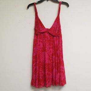 Diane Von Furstenberg Red and Pink Dress Size 2